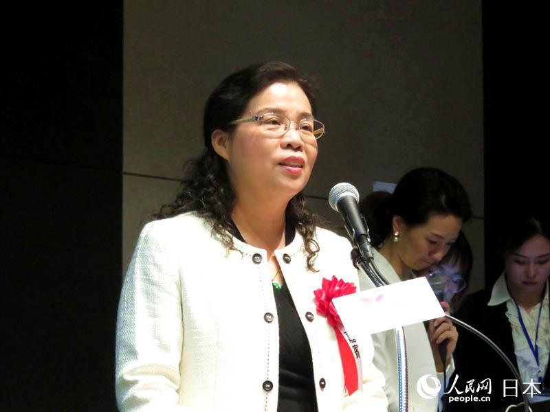 厦门市文化和旅游局一级调研员许丽玲在推介会上致辞。(李沐航 摄)