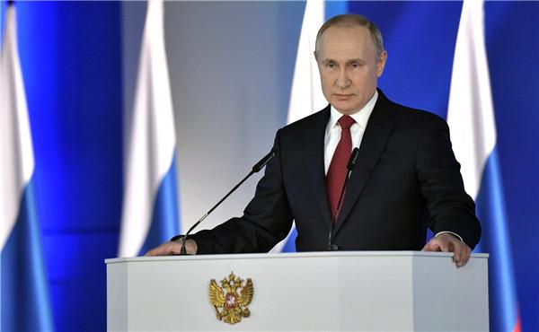 当地时间1月15日,俄罗斯总统普京向议会作年度国情咨文。(图片来源:克林姆林宫官网)