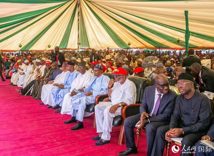 尼日利亚总统为翁多-临沂工业园落成剪彩揭幕