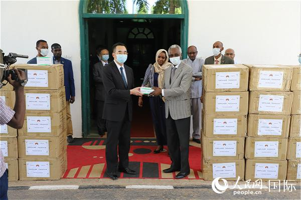中国驻苏丹使馆向苏丹政府捐赠抗疫物资