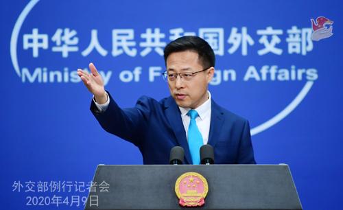 蓬佩奥再次抹黑中国中方:污蔑指责别人赶不走病毒