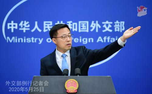 外交部驳美方干涉中国涉港立法:双重标准