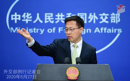 交际部:将对外部势力过问干与香港行径予以反制