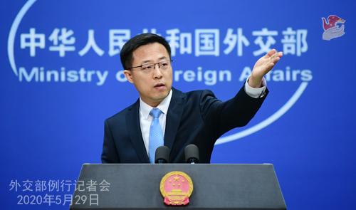 外交部:阻挠涉港立法的行为是螳臂当车