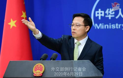 交际部:中方抉择对在涉港问题上表示恶劣的美方人员实施签证限制