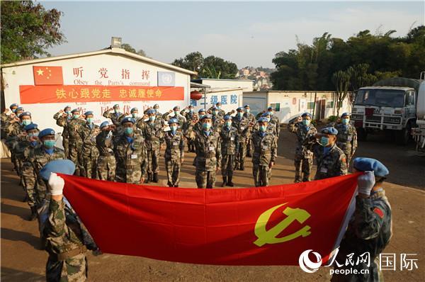 组织重温入党誓词活动 。郭晓宁 摄