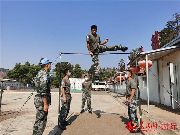 """中国第23批赴刚果(金)维和工兵分队开展""""八一""""建军节庆祝活动"""