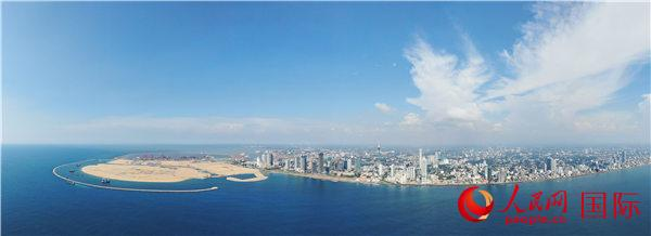 图为斯里兰卡科伦坡口岸城项目全貌