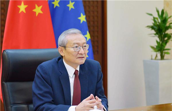 """张明大使:中欧合作将为""""后疫情时代""""世界和平发展注入信心动力"""