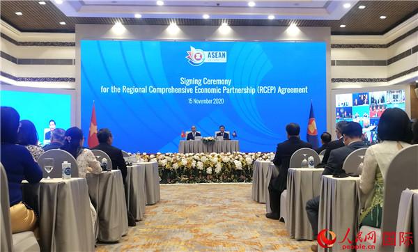 15国签署RCEP全球规模最大自贸协定达成
