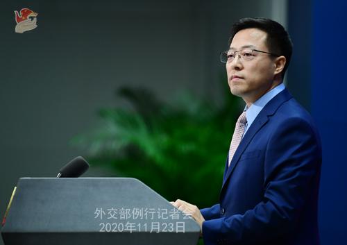 外交部:中方坚决反对任何形式的美台官方往来