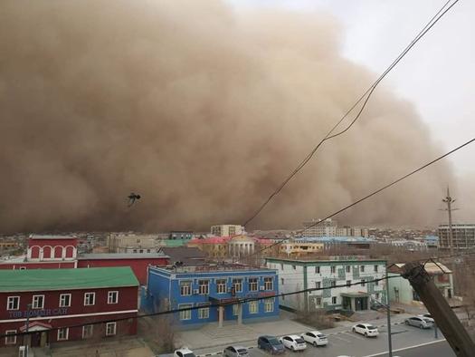 蒙古国狂风雪强沙尘天气致10人灭亡。图片来历:蒙古国紧张环境总局网站