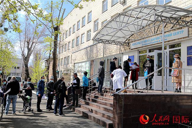 4月26日,乌克兰基辅彼切尔区诊疗中心开始为中国国民接种中国科兴新冠疫苗。太平洋在线记者 谭武军摄