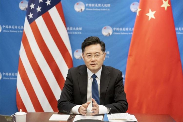 8月31日,中國駐美國大使秦剛就中美關系發表演講。中國駐美國大使館供圖