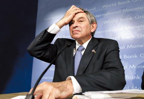 克林顿 保罗/4月15日,世界银行行长保罗·沃尔福威茨在华盛顿出席记者招待会...