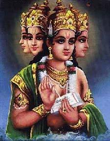 纹身 印度教/印度教中梵天的画像