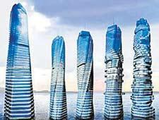 动态 摩天大楼/俄罗斯旋转摩天大楼示意图