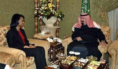 赖斯 阿卜杜拉/赖斯曾两次收到沙特阿拉伯国王阿卜杜拉的珠宝,价值数万美元。