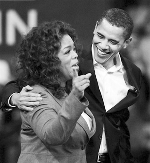 奥巴马/■奥巴马获奥普拉(左)支持