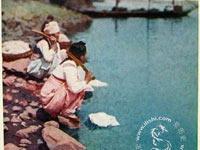 地图 环球/老照片——百年前的朝鲜洗衣妇