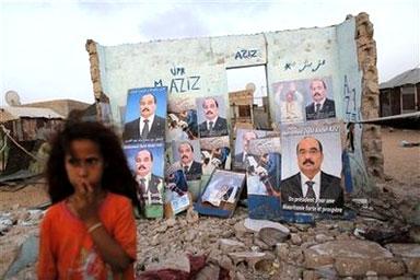 毛里塔尼亚竞选宣传画-毛里塔尼亚开始投票选举新总统图片
