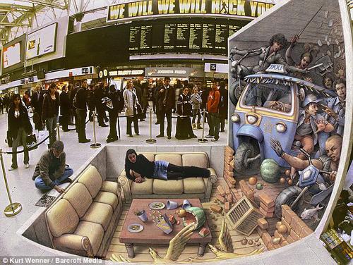 转超震撼街头3D立体绘画  - 惠智源 - 图缘之舟