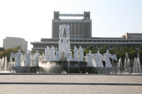 朝鲜街景掠影图片