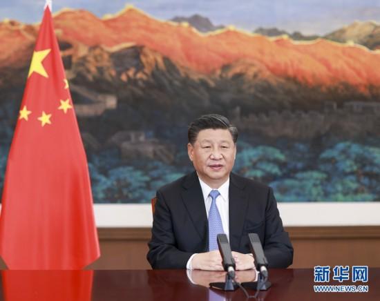 """习近平在二十国集团领导人利雅得峰会""""守护地球""""主题边会上的致"""