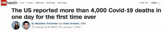单日死亡病例超过4000!专家:美国每个州或都存在变异新冠病毒