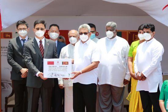 斯里兰卡总统迎接首批中国当局援斯新冠疫苗